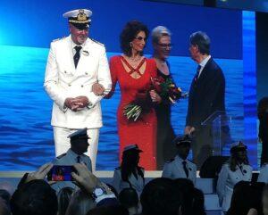 Ceremonia chrztu statku Sophia Loren podczas ceremonii chrztu statku MSC Seaview